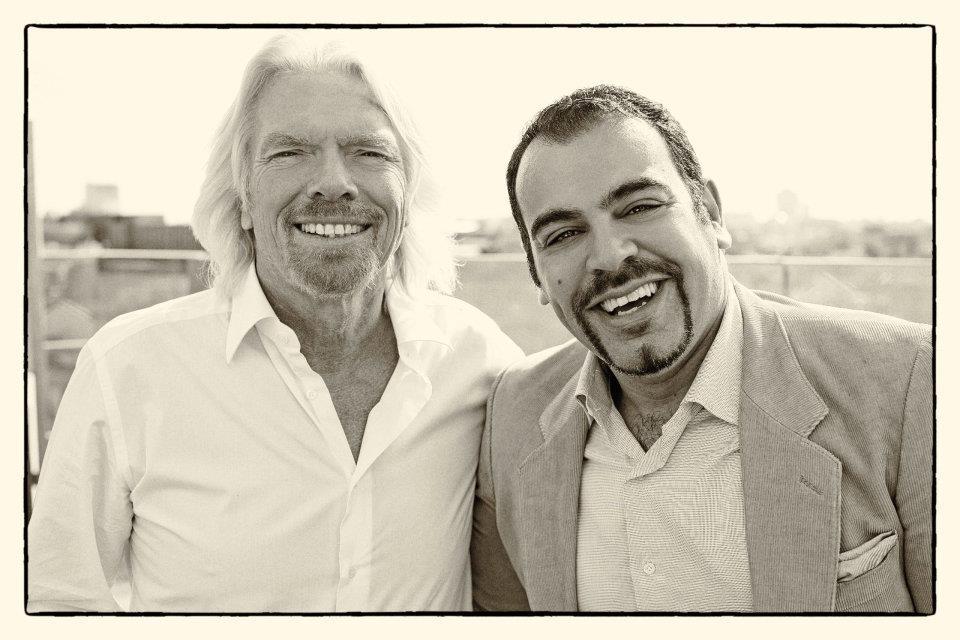 Anass Allouch e Richard Branson
